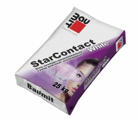 Клеевая шпаклевочная смесь Баумит СтарКонтакт Вайт  (StarContact White)